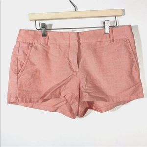 J Crew Factory Size 8 3' Oxford Light Red Pink